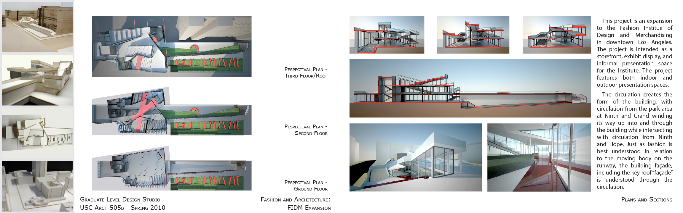 Fashion And Architecture Fidm Expansion Plans And Sections Rachel R Case